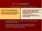 il 1 receptors