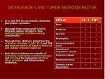interleukin 1 and tumor necrosis factor