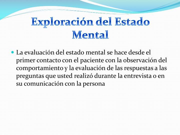 Exploración del Estado Mental