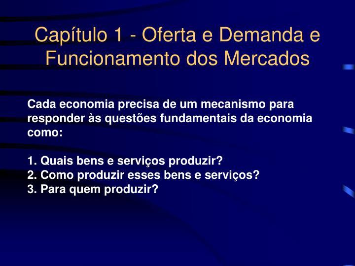 Cap tulo 1 oferta e demanda e funcionamento dos mercados1