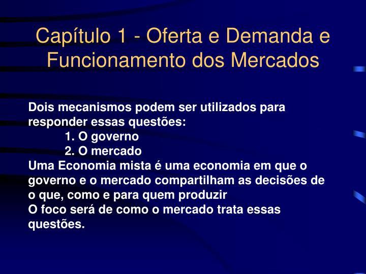 Capítulo 1 - Oferta e Demanda e Funcionamento dos Mercados