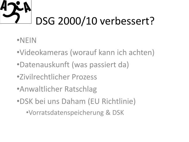 DSG 2000/10 verbessert?