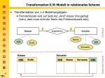 transformation e r modell in relationales schema1
