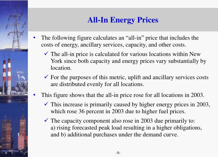 All-In Energy Prices