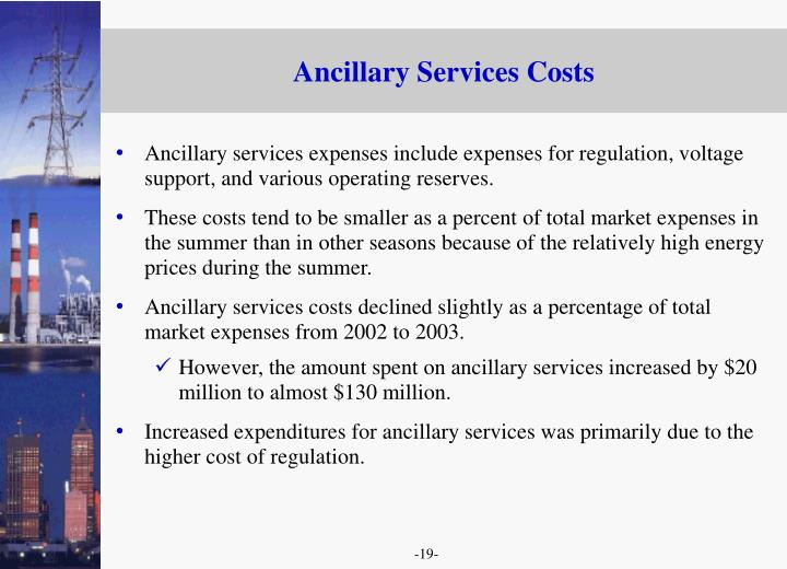Ancillary Services Costs