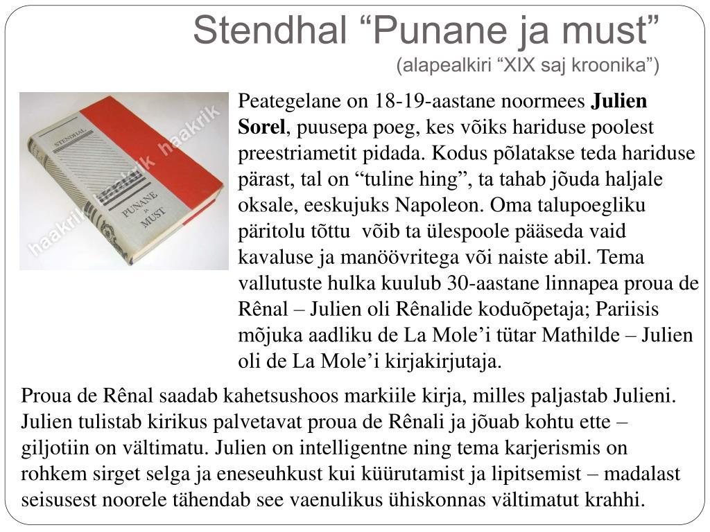 "a052e922f03 Stendhal ""Punane ja must"" (alapealkiri ""XIX saj kroonika"") ..."