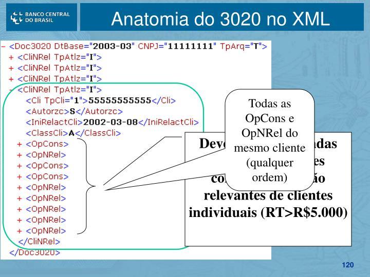 Anatomia do 3020 no XML