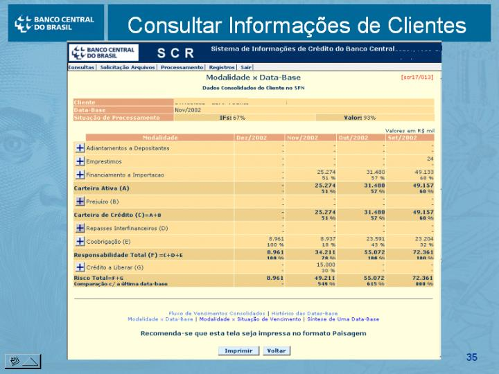 Consultar Informações de Clientes