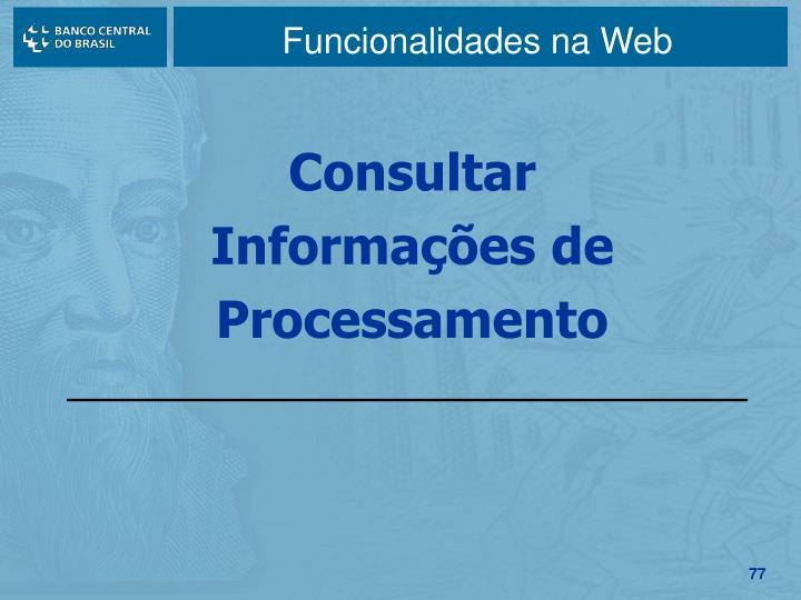 Funcionalidades na Web