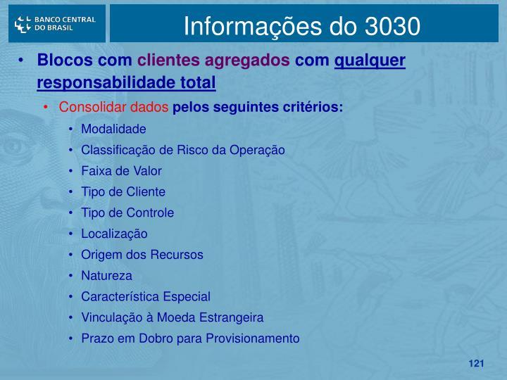 Informações do 3030