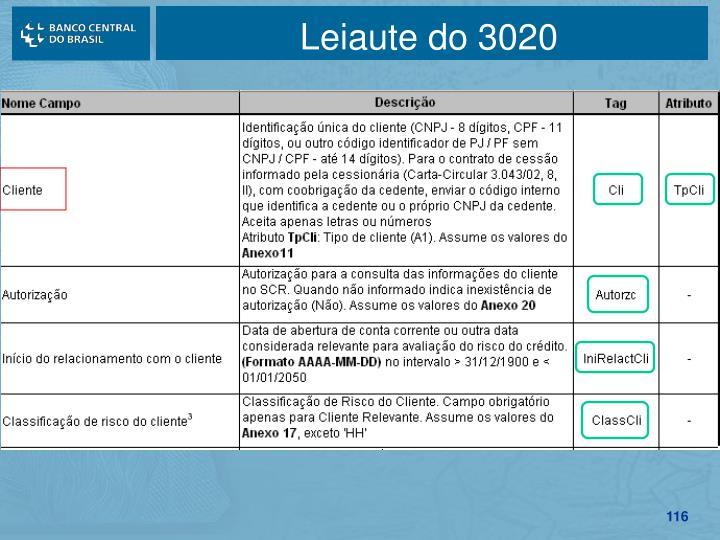 Leiaute do 3020