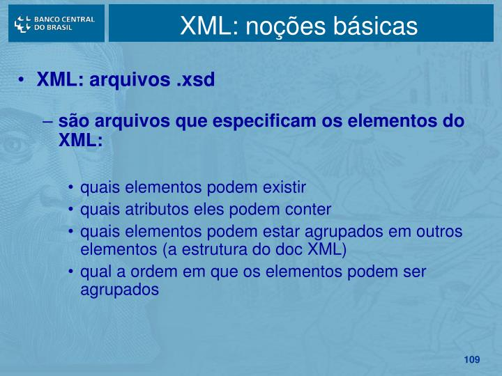 XML: noções básicas