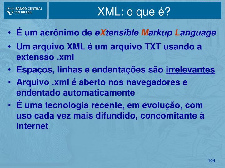 XML: o que é?