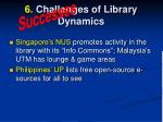 6 challenges of library dynamics4