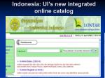 indonesia ui s new integrated online catalog