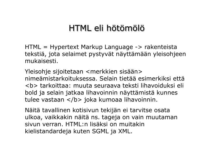 HTML eli hötömölö