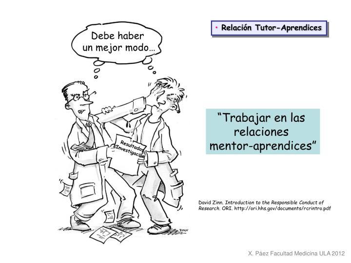 Relación Tutor-Aprendices