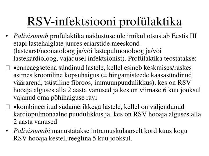 RSV-infektsiooni profülaktika