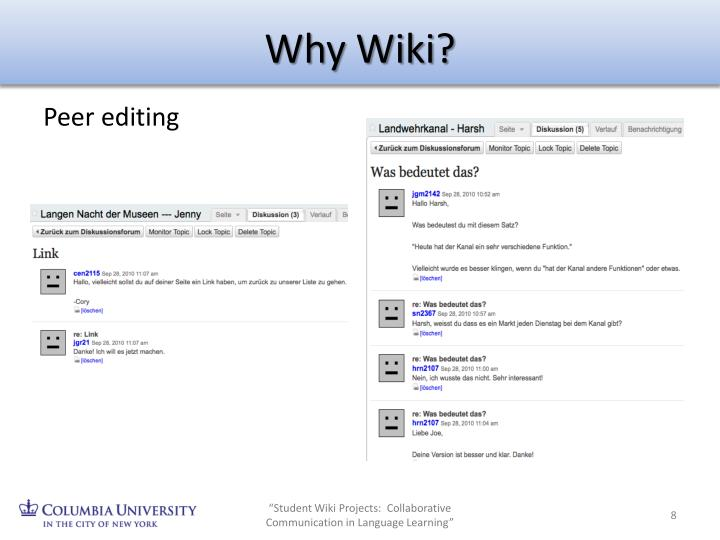 Why Wiki?