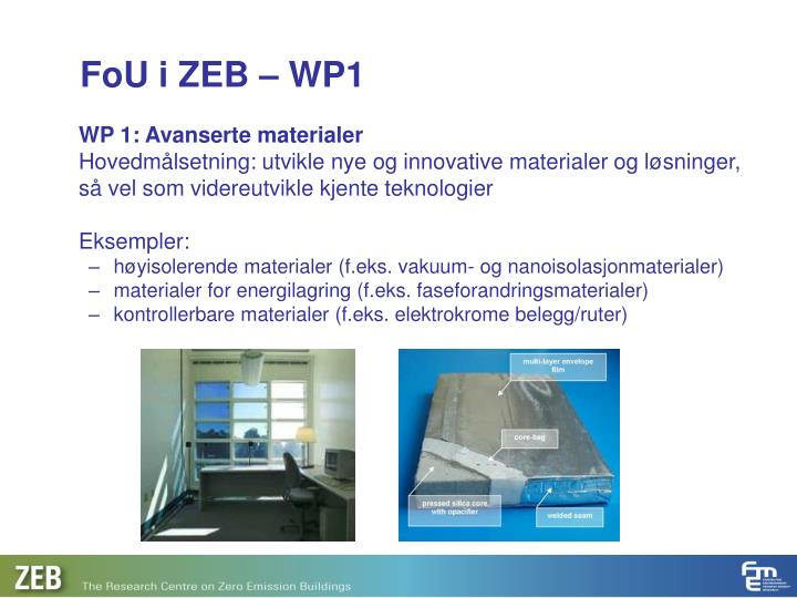 WP 1: Avanserte materialer