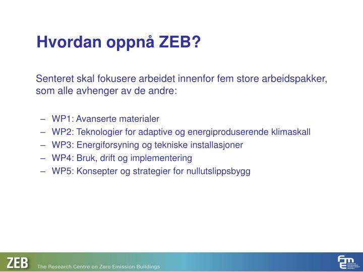 Hvordan oppnå ZEB?