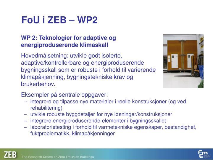 FoU i ZEB – WP2