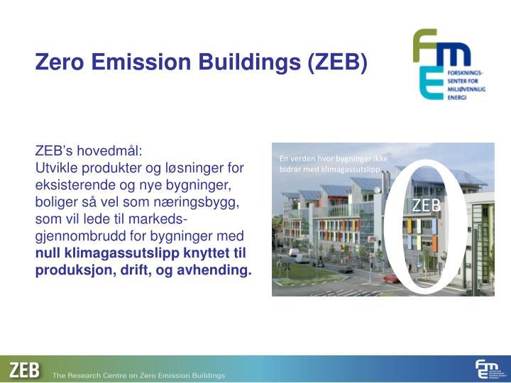 Zero emission buildings zeb