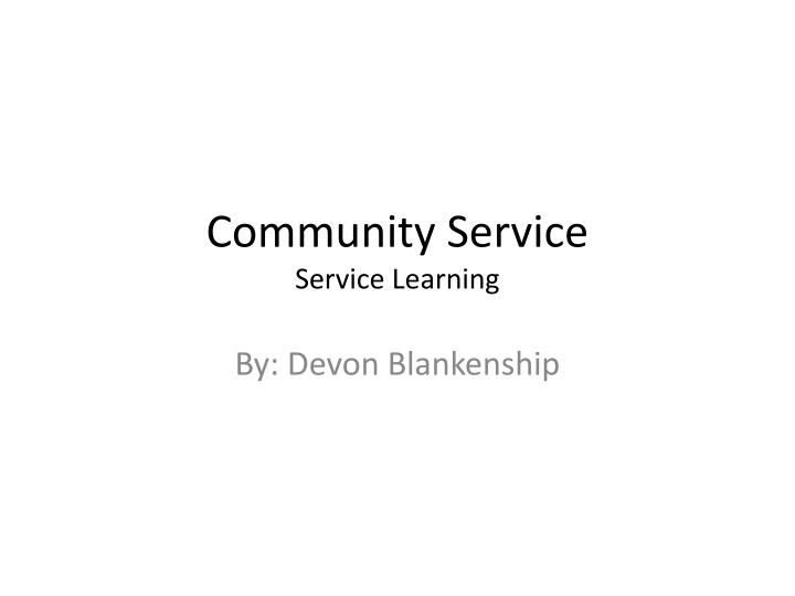 community service service learning n.