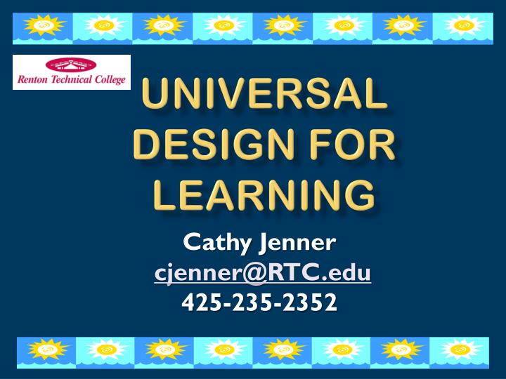 universal design for learning n.