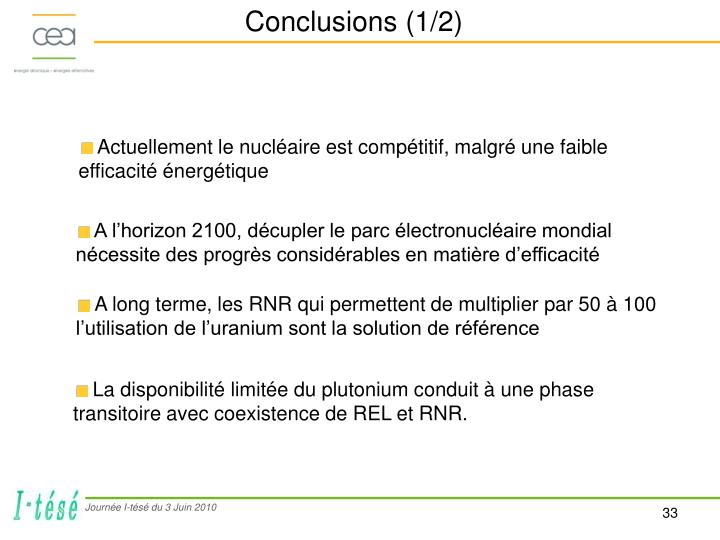 Conclusions (1/2)