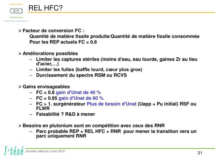 REL HFC?