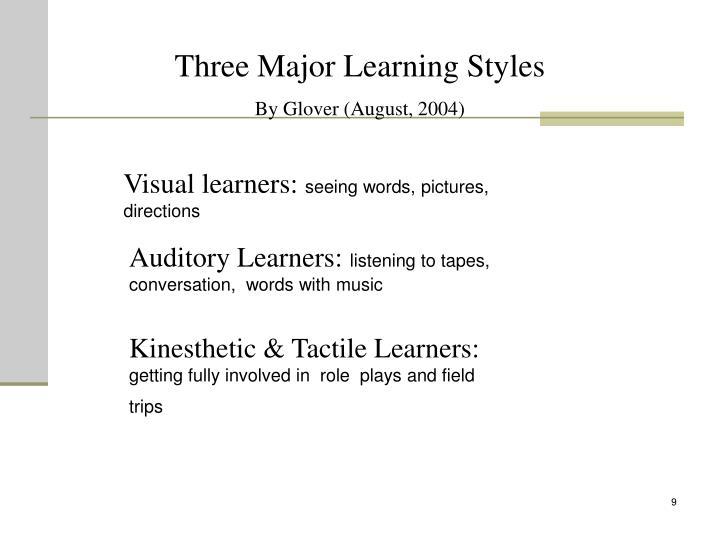 Three Major Learning Styles