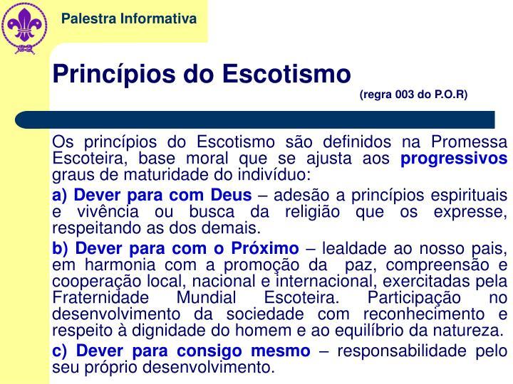 Princípios do Escotismo