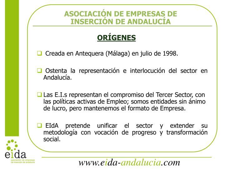 ASOCIACIÓN DE EMPRESAS DE INSERCIÓN DE ANDALUCÍA