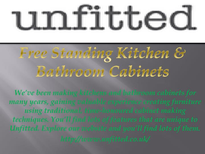 Free Standing Kitchen & Bathroom Cabinets