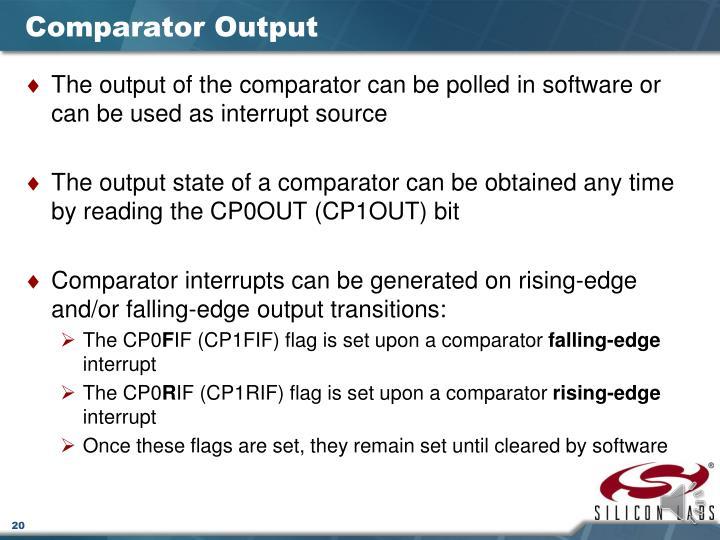 Comparator Output