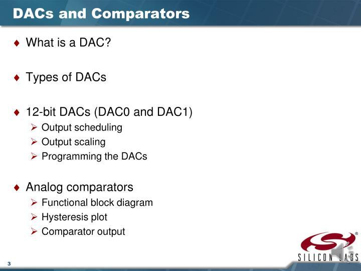 Dacs and comparators