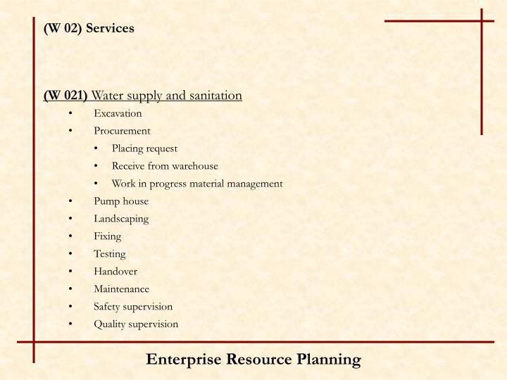 (W 02) Services