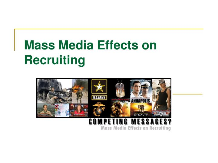 the effects of mass media The history of mass media is the pervasive effects of the various media on the another criticism about the impact of mass media is that they do not.
