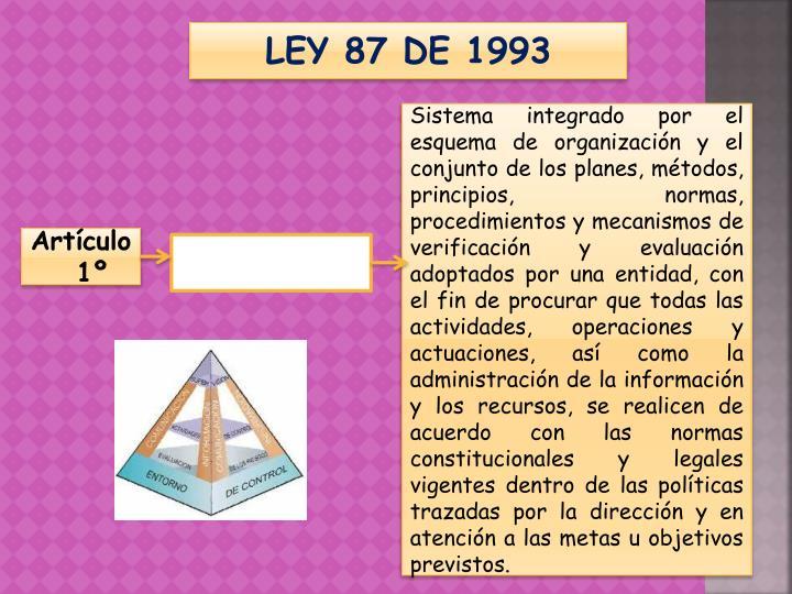 LEY 87 DE 1993