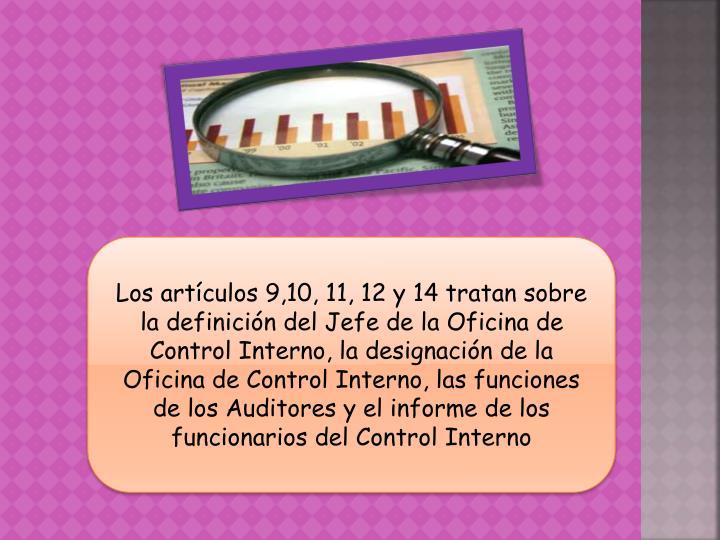 Los artículos 9,10