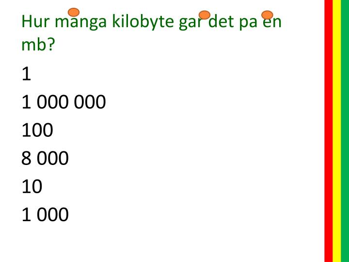 Hur manga kilobyte