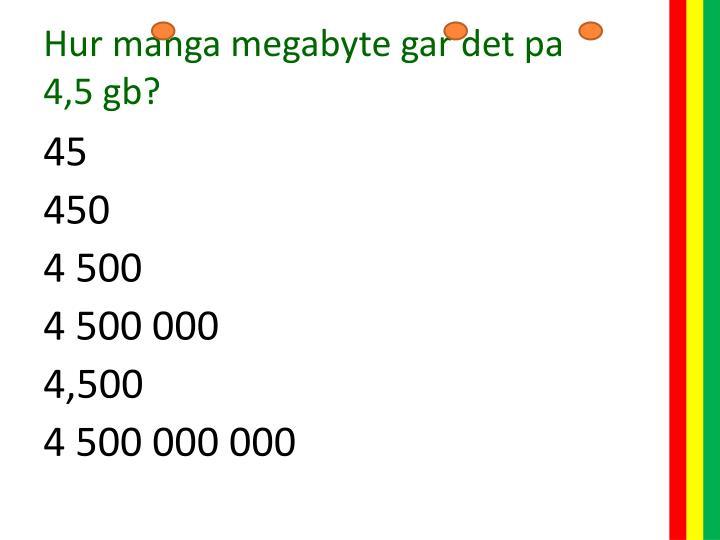 Hur manga megabyte
