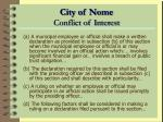 city of nome conflict of interest