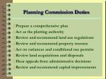 planning commission duties