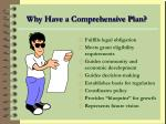 why have a comprehensive plan