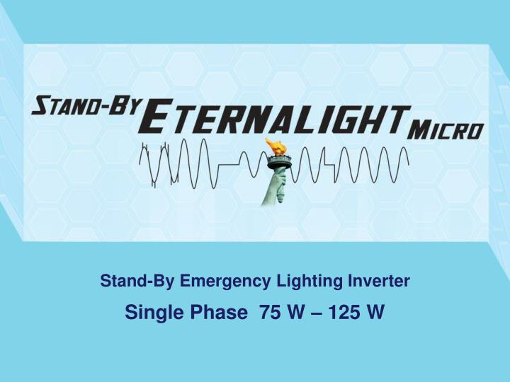 stand by emergency lighting inverter n.