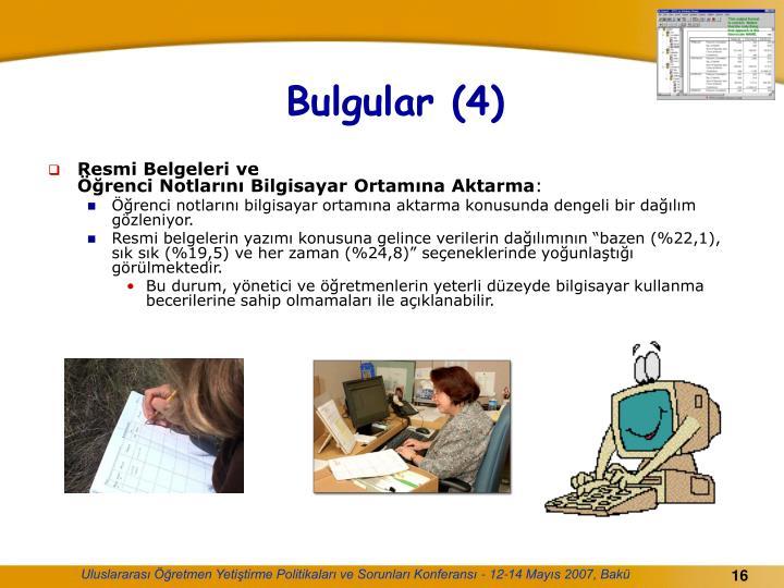 Bulgular (4)