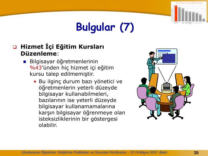 Bulgular (7)