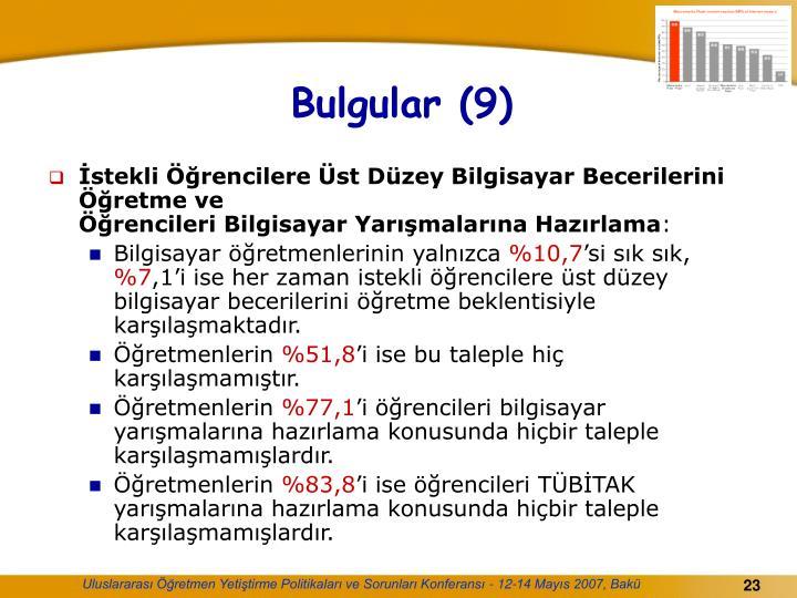 Bulgular (9)